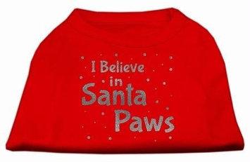 Ahi Screenprint Santa Paws Pet Shirt Red Lg (14)