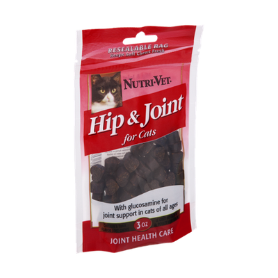 Nutri-Vet Hip & Joint Chicken & Tuna Flavor Soft Chews for Cats