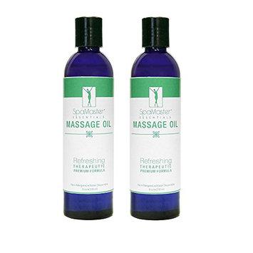 Master Massage SpaMaster Essentials Refreshing 8 oz Massage Oil - 2 Pack