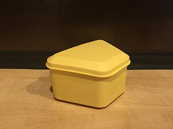 Pureline Oralcare Denture Container Capable of Soaking a Complete Upper and Lower Denture YELLOW