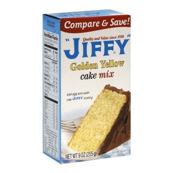 Jiffy Cake Mix Yellow, 9-Ounce Boxes (Pack of 24)