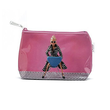 Catseye Doll On Chair Cosmetic Wash Bag