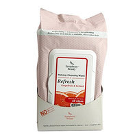 Symphony Beauty Makeup Cleansing Wipes 60 Wipes (Refresh-Grapefruit & Retinol)