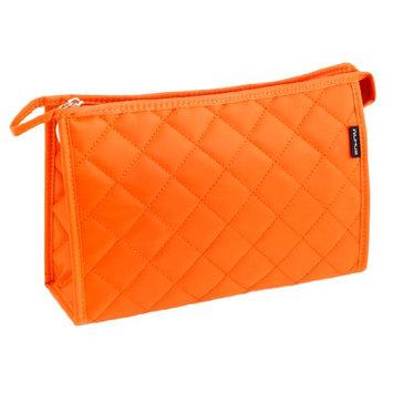 Uxcell Lozenge Print Zip Up Mirror Makeup Cosmetic Bag Case