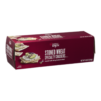 Simply Enjoy Specialty Crackers Stoned Wheat