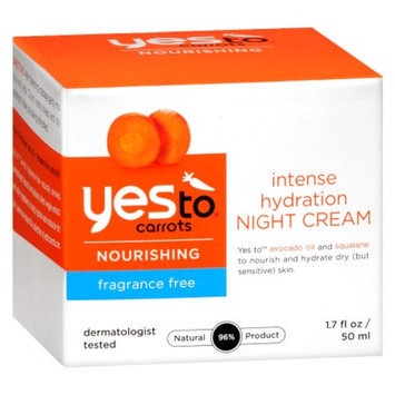 Yes To Carrots Fragrance Free Ultra Hydrating Night Cream - 1.7 oz