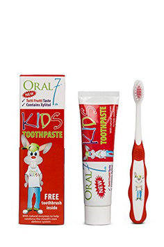 Oral7 Kids Toothpaste with Free Toothbrush