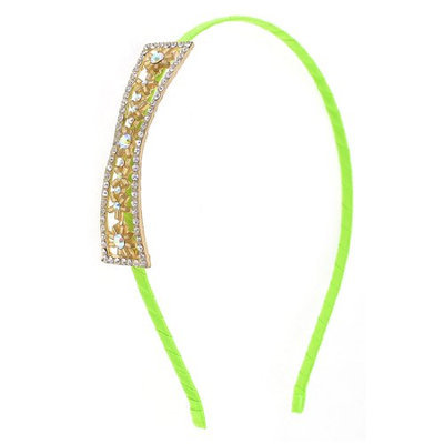 Uxcell Girl Nylon Coated Metal Rhinestone Decor Hair Hoop