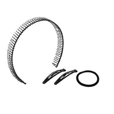 Uxcell Metal Hairband Long Tooth Hair Hoop Double Clip Hairstyle Tool