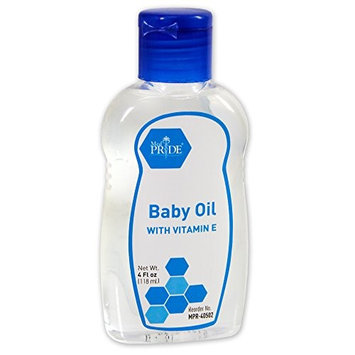 Shield Line MedPride 40502 Baby Oil, 4 Oz. Bottle, Flip Top Lid, 48 Bottles/Carton