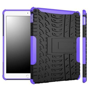 iPad Air 2 Case - roocase [TRAC Armor] iPad Air 2 2014 Hybrid Dual Layer Rugged Case Cover with Kickstand for Apple iPad Air 2 (2014) 6th Generation Latest Model, Purple