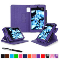 Kindle Fire HD 6 Tablet (2014) Case, roocase new Kindle Fire HD 6 Dual View Folio Case with Sleep / Wake Smart Cover with Multi-Viewing Stand for All-New Fire HD 6 Tablet (2014), Purple