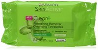 Garnier Skin Skinactive Clean Plus Refreshing Remover Cleansing Towelettes (Pack of 3)