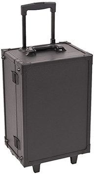 Craft Accents Leather-like Professional Rolling Makeup Studio Case