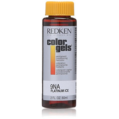 Redken Color Gels Permanent Conditioning 9NA Platinum Ice for Unisex 2 Oz