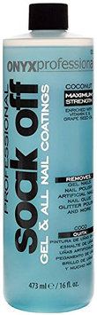 Onyx Professional Soak Off Shellac & Gel Nail Polish Remover Coconut Scented Removes Artificial Nails