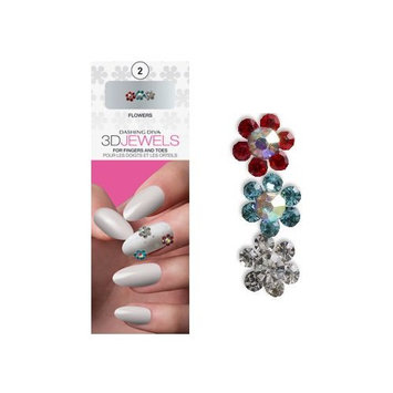 Dashing Diva Design FX 3D Jewels Flowers 3 Count