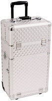 Sunrise Interchangeable 2 in 1 Pro Rolling Cosmetic Makeup Artists Case 6 Trays Dividers 3 Drawers