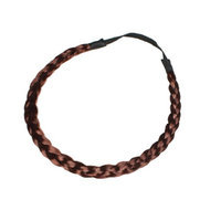 Uxcell Wig Ponytail Braided Elastic Ladies Girls Hair Tie Band