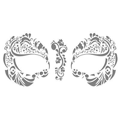 Masque Rage Flakes Tattoo Mask