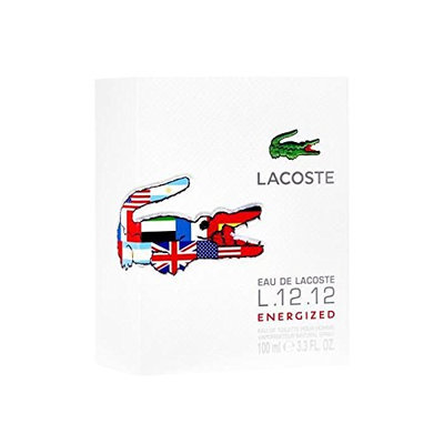Lacoste Eau De Lacoste L.12.12 White Energized Men's Eau de Toilette Spray