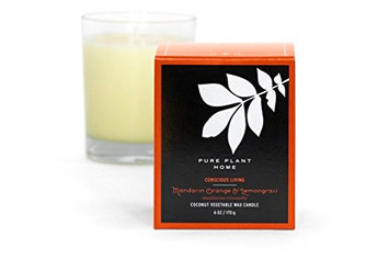 Pure Plant Home Mandarin/Orange Lemongrass Stockholm Coconut Wax Glass Candle