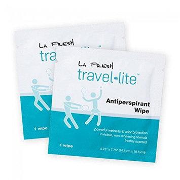 La Fresh Travel Lite Antiperspirant Wipes Unisex 48 Count Gift Box