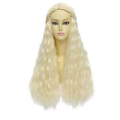 Blonde wig. Cosplay wig. Platinum blonde long wavy hair wig. Cosplay wig. Custom wig.