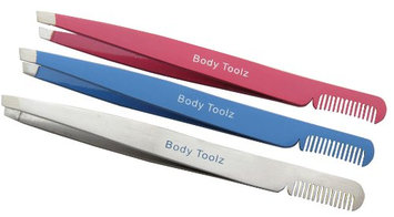 Body Toolz Slanted Tweezer with Comb