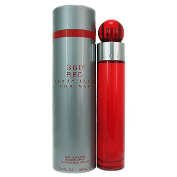 360 Red by Perry Ellis for Men - 3.4 Ounce EDT Spray
