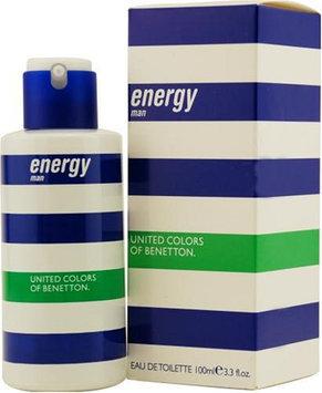 Energy Men by Benetton 3.3oz 100ml EDT Spray