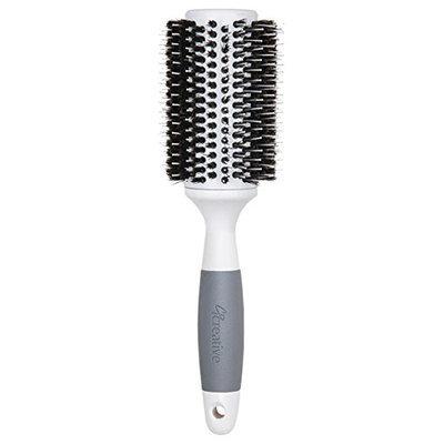 Creative Hair Brushes Solid Barrel Ceramic Mixed Bristles