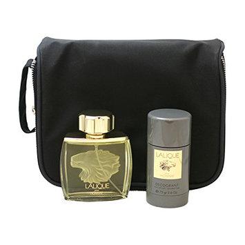 Lalique By Lalique For Men. Gift Set ( Eau De Toilette Spray 2.5 Oz  & Deodorant Stick 2.6 Oz + Travel Bag).