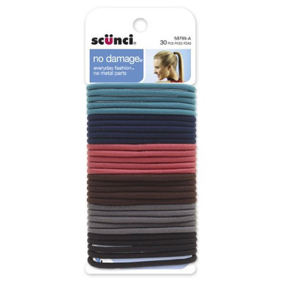 Scunci Effortless Beauty Large No-damage Multi-color Elastics