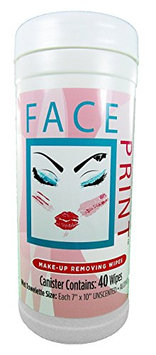 Paper Shower Face Print Wipes