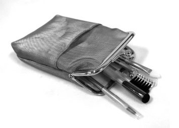 Rucci Cosmetic Purse with Cosmetic Brush