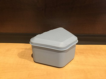 Pureline Oralcare Denture Container Capable of Soaking a Complete Upper and Lower Denture LIGHT BLUE