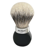 Da Vinci Series 290 Uomo Shaving Brush Silvertip Badger Hair Globe Handle with Shower Holder