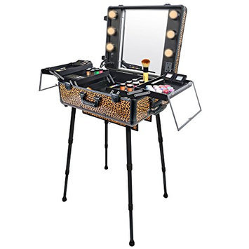 SHANY Studio To Go Makeup Case with Light Pro Makeup Station