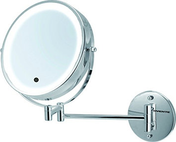 Ovente MFW85CH 8.5 Inch Battery Operated LED Lighted Wall Mount Vanity Makeup Mirror