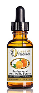 Lisse et Naturel Professional Strength Anti-Aging Vitamin C Serum With 20% Vitamin C and 11% Hyaluronic Acid Content