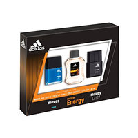 Adidas Fragrance 3 Piece Gift Set (0.5 Ounce EDT Moves for Him Plus 1.7 Ounce EDT Deep Energy Plus 0.5 Ounce EDT Moves 001)