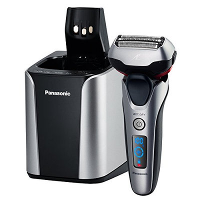Panasonic Arc 3-Blade Electric Shaver System with Automatic Clean and Charge Station