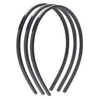 Uxcell 3 Piece Women Rhinestone Inlaid Slim Frame Hair Hoop