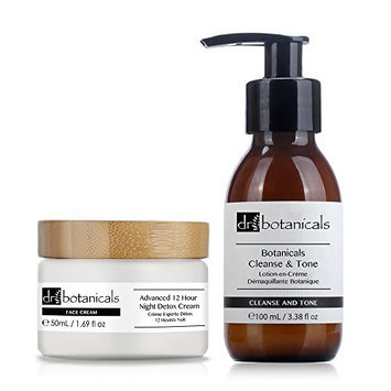 Dr Botanicals Cleanse and Tone and Advanced 12 Hour Night Detox Cream
