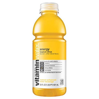 vitaminwater Nutrient Enhanced Water Beverage Energy Tropical Citrus