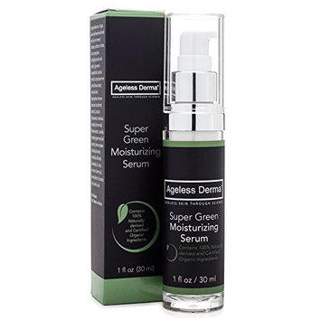 Ageless Derma Super Green Moisturizing Serum with Certified Organic Ingredients