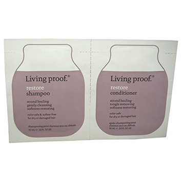 Living Proof Restore Shampoo and Conditioner Duo for Unisex