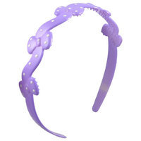 Uxcell Plastic Dotted Decor Bowknot Women Hairstyle Hairband