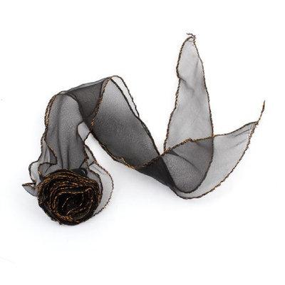 Uxcell Rose Detail Girls Elastic Ponytail Holder Hair Tie